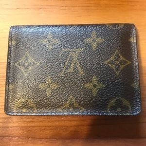 Louis Vuitton LV Monogram Logo Card Holder Wallet
